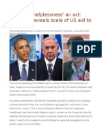 Obama's 'Helplessness' an Act Snowden Reveals Scale of US Aid to Israel