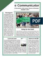 Communicator Senior Newsletter - August 2014