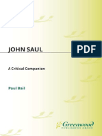 Paul Bail John Saul a Critical Companion Critical Companions to Popular Contemporary Writers 1996