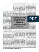 1994 Issue 1 - Should Society Discriminate Against Homosexuals? - Counsel of Chalcedon