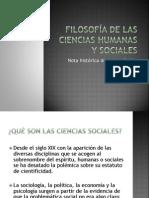 Filosofía de Las Ciencias Humanas y Sociales Materiales Para Una Fundamentación Científica