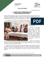 03 de Agosto de 2014.- Inaugura Sso El Primer Banco de Leche Materna en El Estado