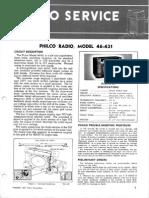 Philco Mod 46-431 Svcmnls