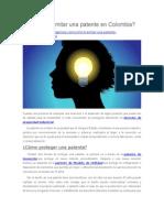 Cómo Tramitar Una Patente en Colombia