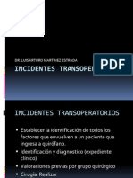 INCIDENTES TRANSOPERATORIOS