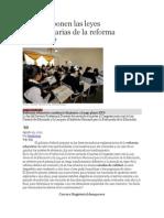 Qué Proponen Las Leyes Reglamentarias de La Reforma Educativa