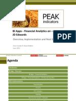 Bi Apps Financial Analytics on Jde