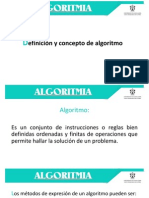 Algoritmia Clase Semana 1