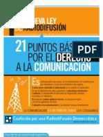 21 puntos de la Ley de Servicios de Comunicación