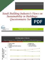 Saudi Building Industry's Views on Sustainability in Buildings