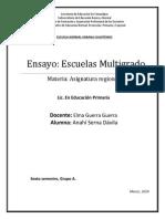 ENSAYO Escuelas Multigrado
