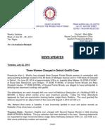 Wayne County Prosecutor News Updates July 20 - July 26, 2014