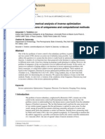 Analytical and Numerical Analysis of Inverse Optimization Problems