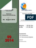 Eslarner Gemeinderatssitzungen  - Mitschrift vom 05.08.2014