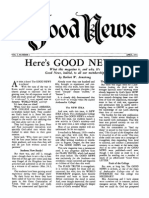 Good News 1951 (Vol I No 01) Apr
