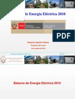 Estadística Eléctrica 2010