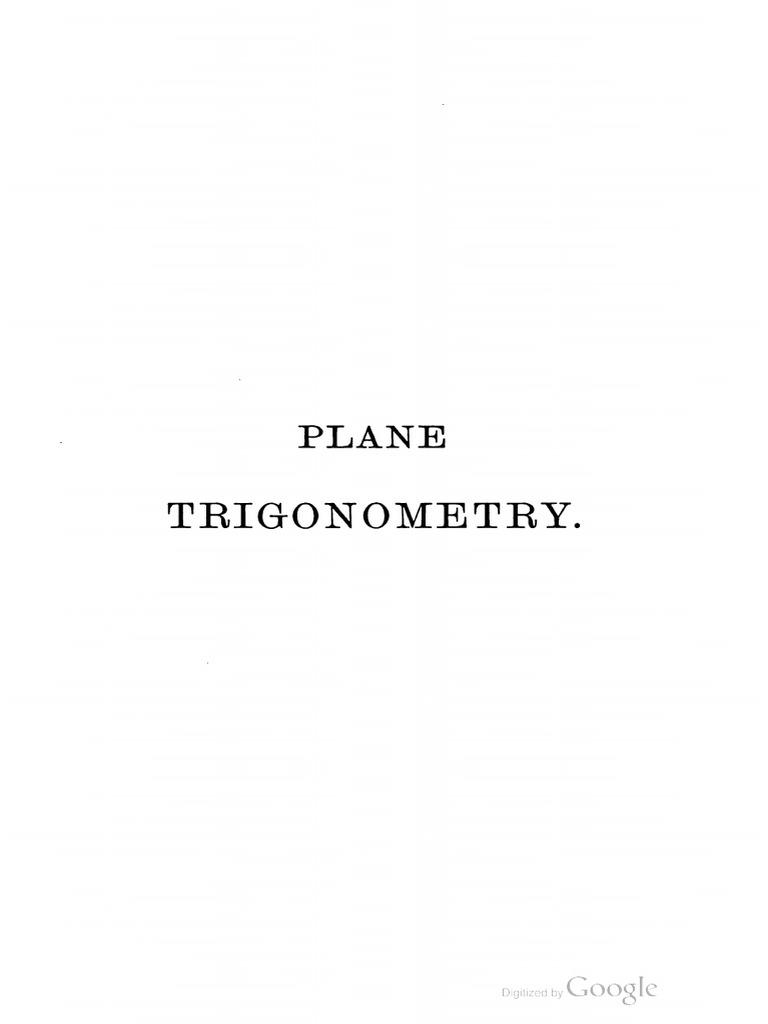 s l loney plane trigonometry