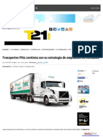 Transportes Pitic continúa con su estrategia de ampliación de mercados