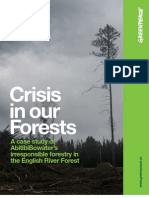Crisis in Our Forests
