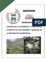 AVANCES   EN   LA   DIVERSIDAD   Y   COMPOSICIÓN   FLORÍSTICA   EN   LOS   PÁRAMOS   Y   BOSQUES   DE   LA   PROVINCIA   DE   CHIMBORAZO