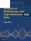 Koch I. Analysis of Multivariate and High-Dimensional Data 2013