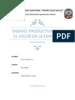 Productividad y El Valor en La Empresa