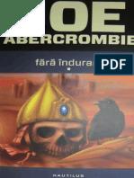 Joe Abercrombie - Prima Lege - 2 - Fara Indurare Vol 1