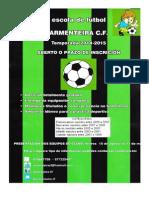 Cartel de Inscrición ARMENTEIRA CF Word