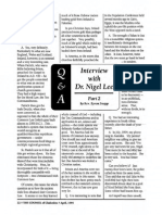 1995 Issue 4 - Interview With Dr. Nigel Lee Part 2 - Counsel of Chalcedon