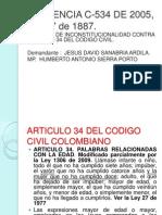 2. Sentencia C-534 de 2005 Diapositivas Probatorio