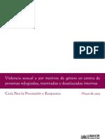 Violencia sexual-guía para prevención y respuestas 2003