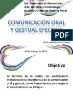 Comunicación Oral y Gestual Febrero 2014
