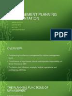 Management Planning Presentation