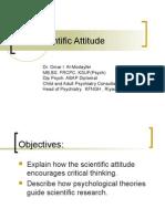 3rd lecture The Scientific Attitude