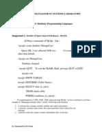DBMS Part-1 Lab Assign