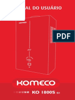 Manual Do Aquecedor Komeco Slim GLP e GN - KO 1800S