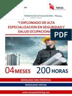 Programa Intensivo de Actualización - DIPLOMADO EN SEGURIDAD Y SALUD OCUPACIONAL