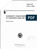 Flammability Characteristics of Combustible Gases and Vapor-bulletin 627 Bureau of Mines