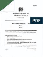 Percubaan Melaka 2012 BI1