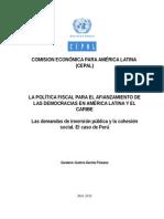 CEPAL_Las Demandas de Inversión Pública y La Cohesión Social El Caso de Perú (2)