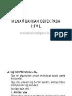 Menambahkan Object Di HTML