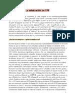 La Estatización de YPF