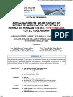 Actualización en Los Regímenes de Rentas de Actividades Lucrativas y Rentas de Trabajo Del ISR