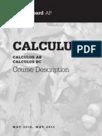 AP Calculus Course Description