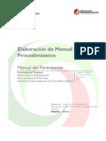 Elaboracion Manual de Procedimientos