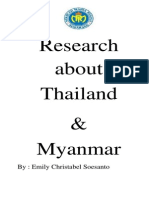 Research About Myanmar and Thailand
