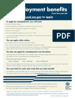 ResumeBear Unemployment Benefits Poster