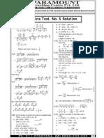 Ssc Mains (Maths) Mock Test-5 (Solution)