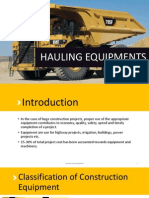 HAULING EQUIPMENT- TRUCKS