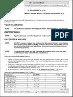 Chevrolet Blazer Vortec v6 4.3L - Ajuste IAC, Tiempo, Mezcla y TPS